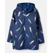 Joules navy-kék sötétben világító fiú gumis esőkabát - Lighting