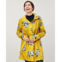 Joules Golightly összecsomagolható sárga esőkabát virágokkal