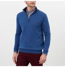 Tom Joule Hillside 1/4 cipzáros férfi pulóver - tintakék Ink Blue