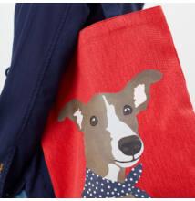 Tom Joule vászon kutyusos bevásárló táska - Lulu Shopper