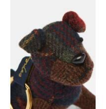 Joules egyedi kialakitasú tweed kutyusos kulcstartó