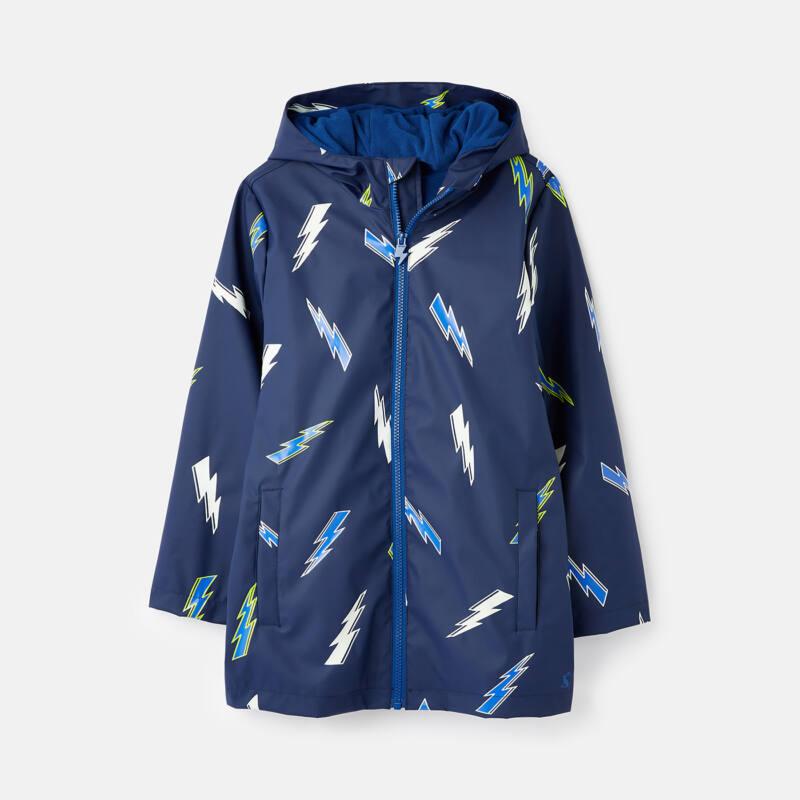 Joules navy-kék sötétben világító fiú gumi esőkabát - Lighting